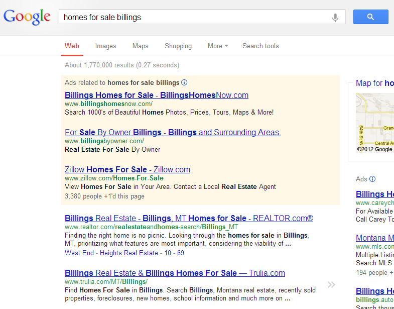 Google Search Results - Homes for Sale Billings